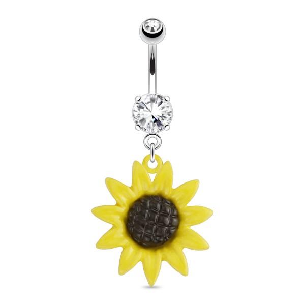 Sonnenblume Bauchnabelpiercing