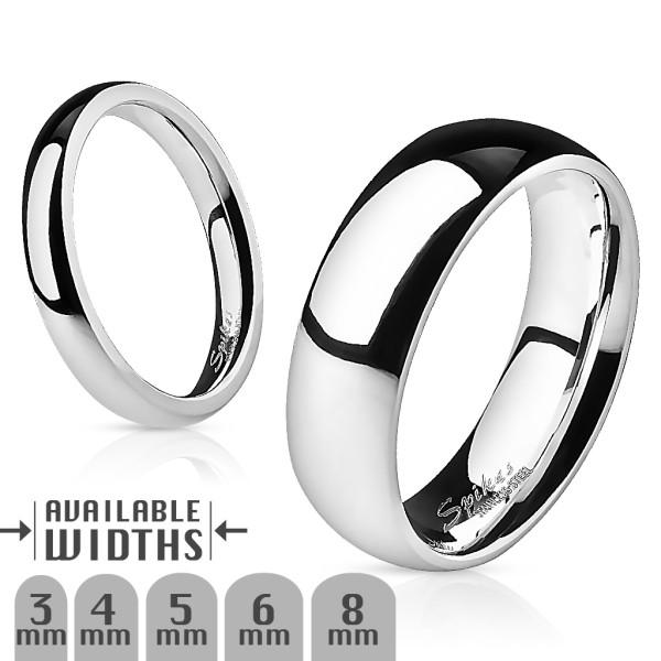 Ring Silber 316L Chirurgenstahl poliert Ehering