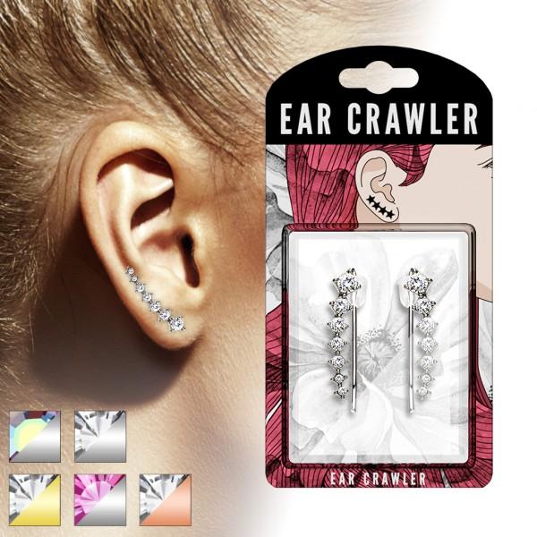 1 Paar Ear Crawler 7 Zirkonia Ear Climber