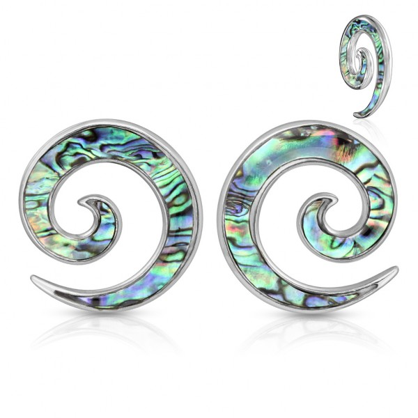 1 Paar Spirale Expander Ohr Perlmutt