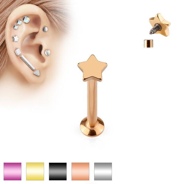 Sterne Labret Monroe Piercing