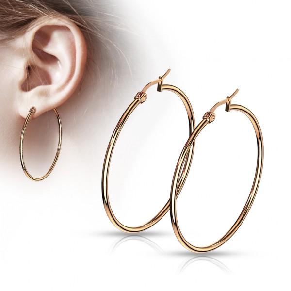 ein Paar Ohrringe in Rosegold, 316L rostfreier Stahl