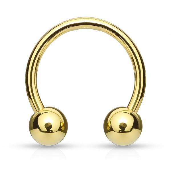 Hufeisen mit Kugel Piercing Circular Barbell mit Gold plattiertes Chirurgenstahl 316L