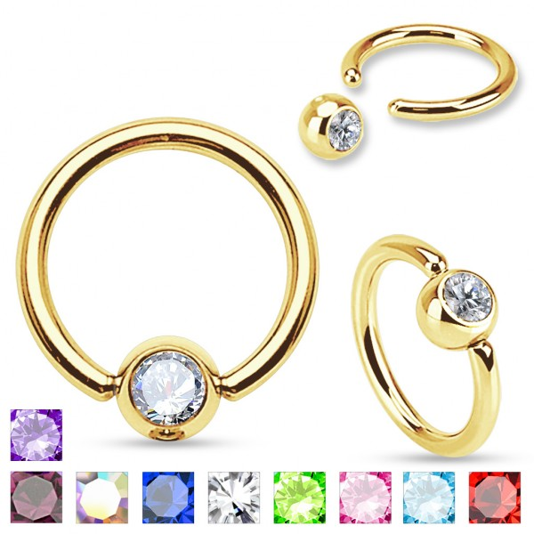 Ring Bauchnabelpiercing Gold plattiert