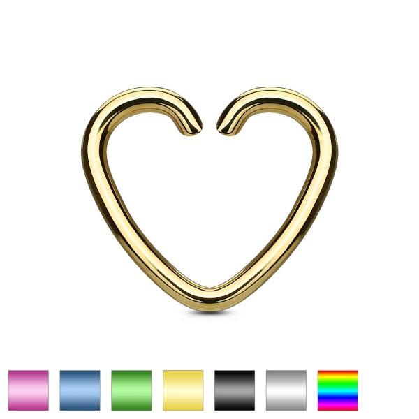 Herz Ring Fake Piercing