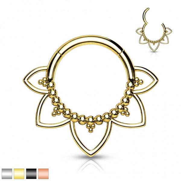 Segment Hoop Ring Scharnier Hohe Qualität 316L Chirurgenstahl Gold Schwarz