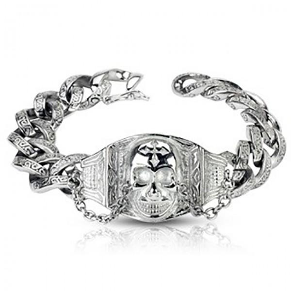 groß Schädel Gothic Kette Armband Ring 316L Chirurgenstahl