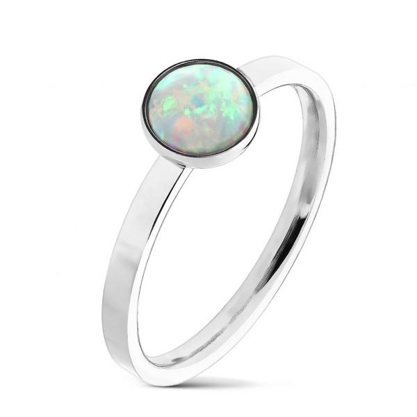 Ring Silber Opalstein 316L Chirurgenstahl