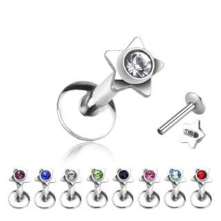 Stern Kristall Labret Monroe Piercing