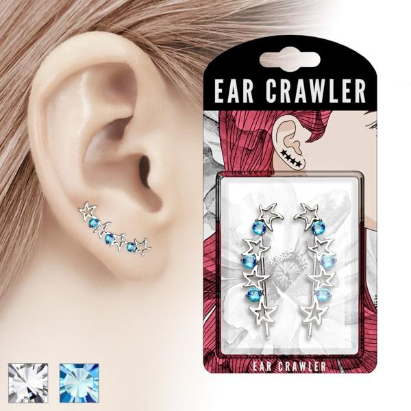 Paar Ear Cralwer Zirkonia Stern