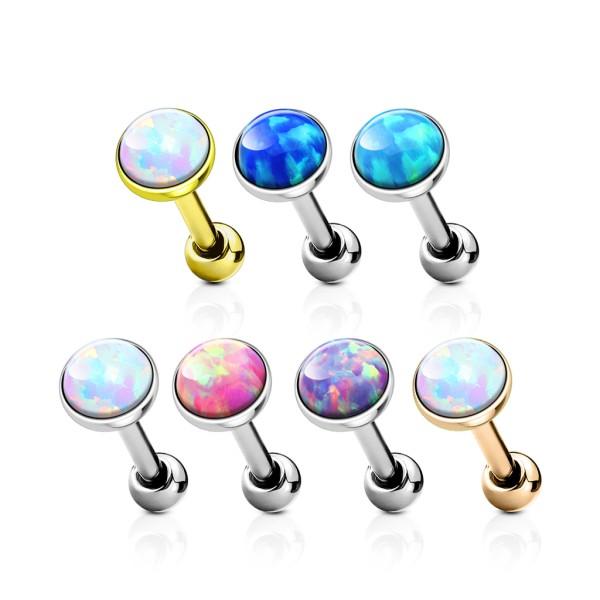 42 Stück Opal Set Flach Top 316L Tragus Piercing Stecker Ohrring Stecker Packung