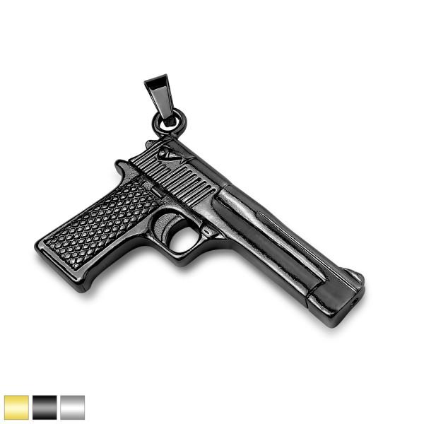 Pistole Schwarz Anhänger Stahl