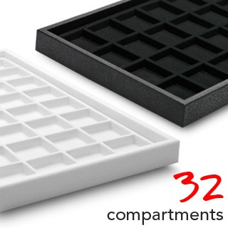 32 Fach Samt Box