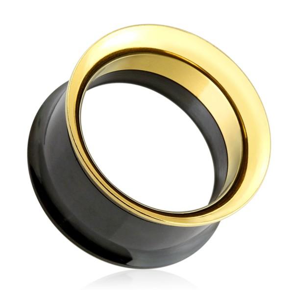 Gold Flesh Tunnel schwarz
