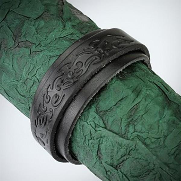 Tribal Muster Lederarmband Armband Schwarz Schnalle Verschluss