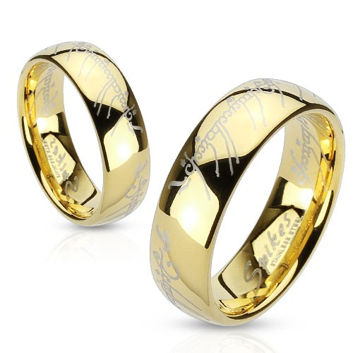 Ring Edelstahl gold