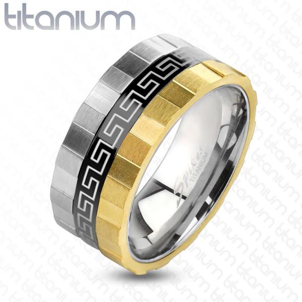 Ring Labyrinth dreitönig Titan