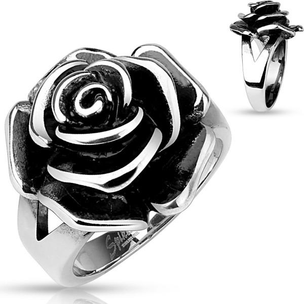 Ring Rose Edelstahl