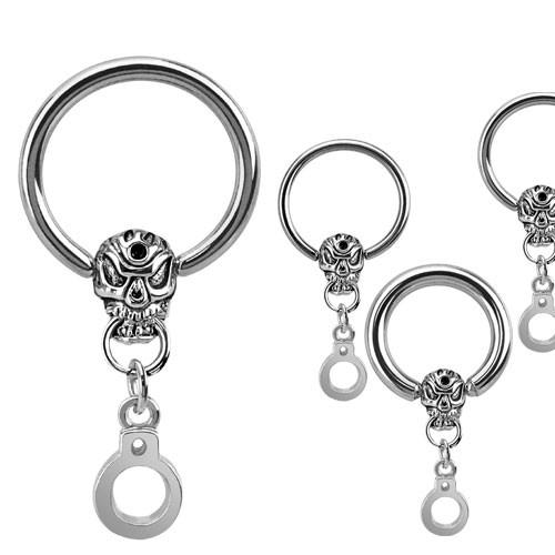 Schädel Handschelle CBR Ring