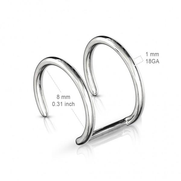 Helix Fake Ohrpiercing Closure Ring Clip-On Helix Chirurgenstahl