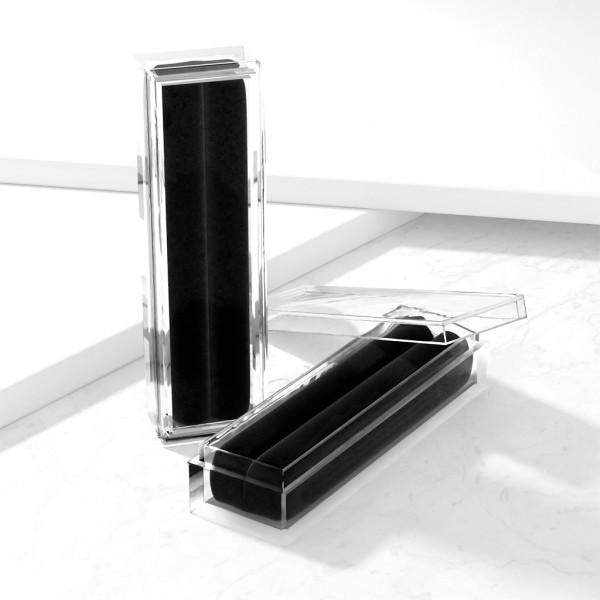 Akryl Box mit schwarzem Samt