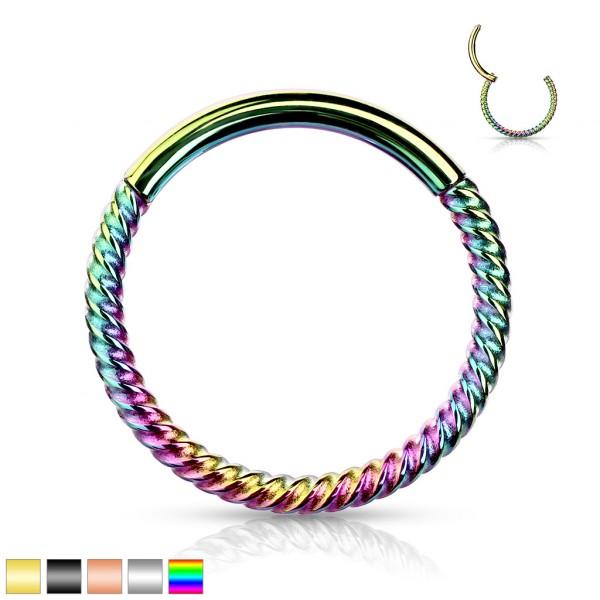 Seil Eloxierter Segmentring Clicker Hinged Segment Hoop Ohrpiercing mit Scharnier Conch Septum Helix