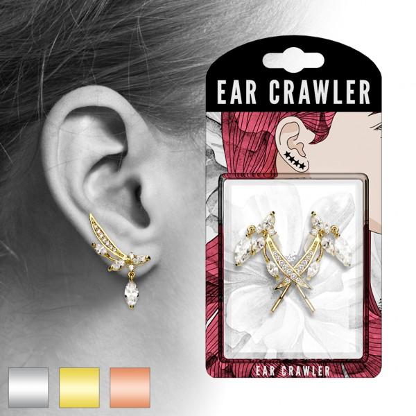 Paar Ear Cralwer Zirkonia
