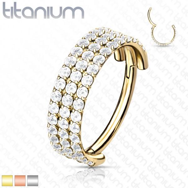 Titan Premium Segment Clicker Helix mit drei Reihen Kristalle