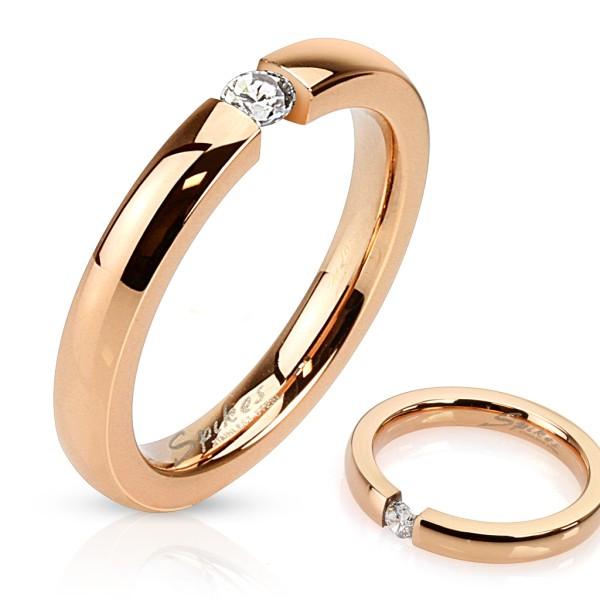 Ring rosegold Zirkonia Edelstahl