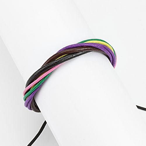 Lederarmband Braun Schwarz lila Pink Grün verstellbarer Verschluss