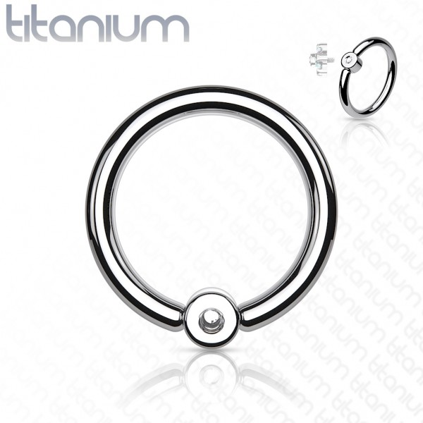 Titan Captive Bead Rings CBR Ring Internally Threaded Intim Orbital Daith passend für 16ga Threaded