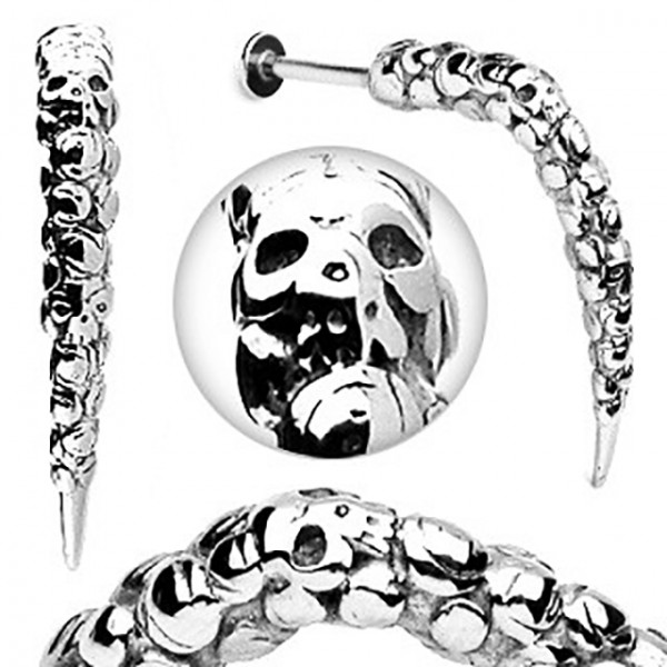 Schädel Labret Monroe Piercing