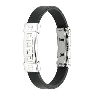 Tribal Labyrinth Ring 316L Chirurgenstahl - Plate Gummibänder Armband