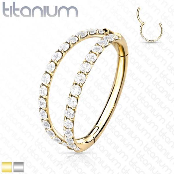 Titan Premium Segment Clicker Helix mit zwei Ringen Kristalle