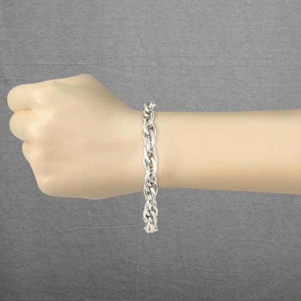 Tri-Link Kette Ring 316L Chirurgenstahl Armband
