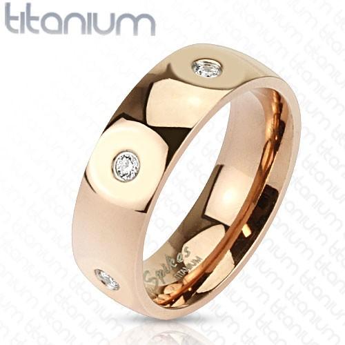 Ring rosegold Zirkonia Titan