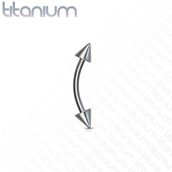 Spitze Augenbrauen Piercing Titan G23
