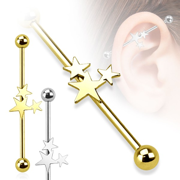 Sterne Industrial Surface Bar Piercing