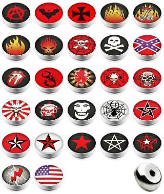 10 Stück Kugeln mit Logo