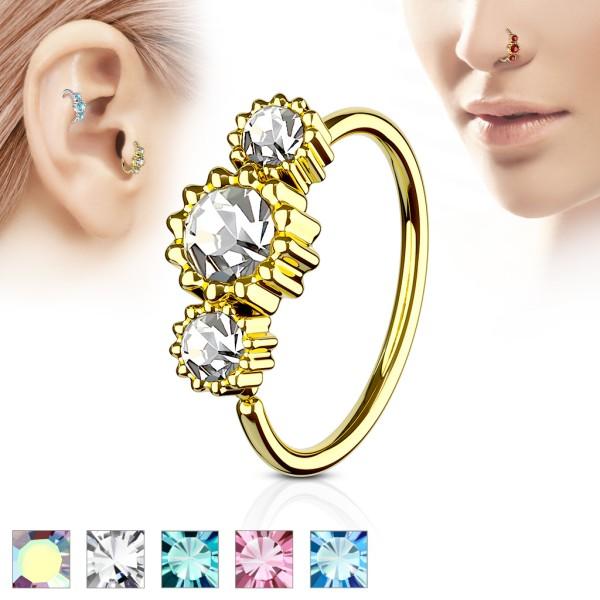 Opal Cartilage Blume Piercing