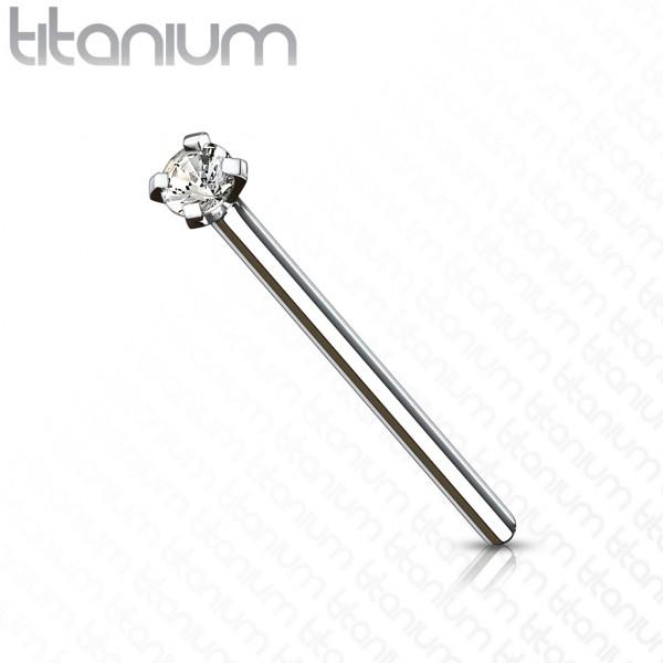 Zirkonia Kugel Titan G23 Nasenpiercing Stab Pin