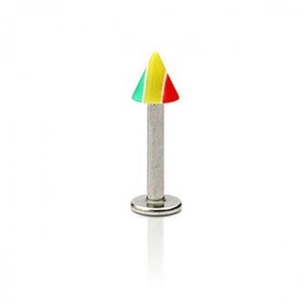 Jamaika Flagge Labret Monroe Piercing Stachel