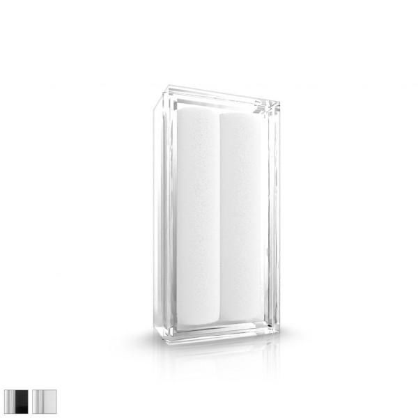 Akryl Box mit Schwarzem / weißem Samt