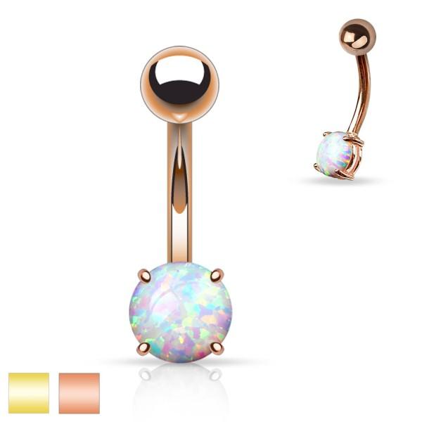 Opal Gold Bauchnabelpiercing