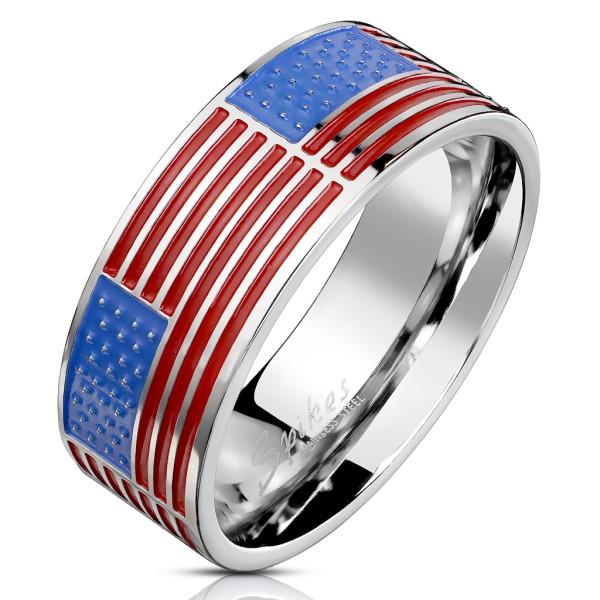 Ring Flagge US Edelstahl