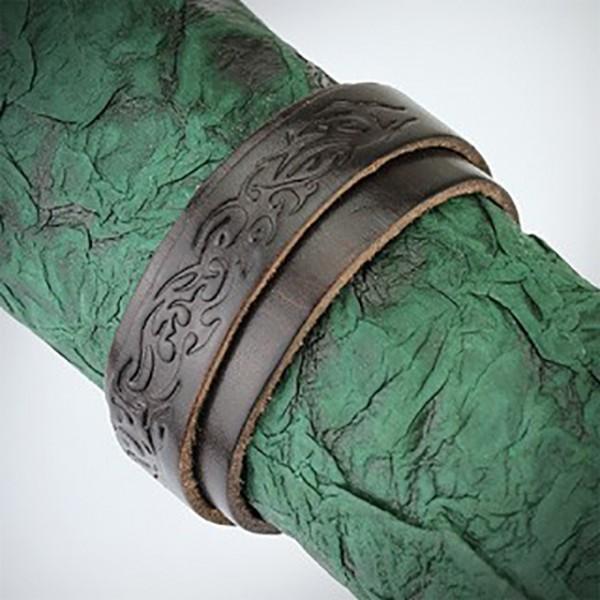 Tribal Muster Lederarmband Armband Braun Schnalle Verschluss