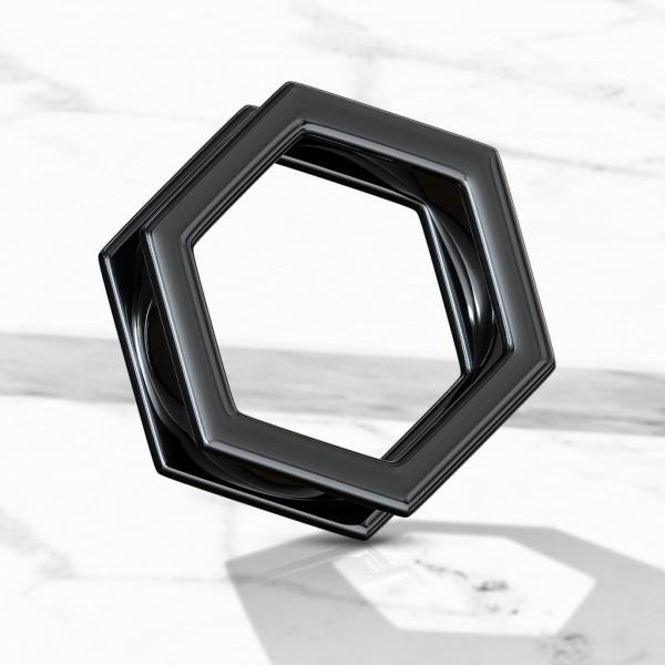 Hexagonal SchraubTunnel schwarz Tunnel