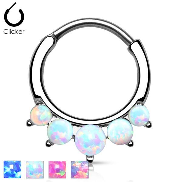 Fünf Opal Septum Hänger