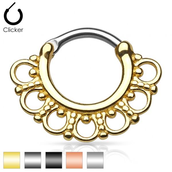 Segment Clicker mit Ringen Chirurgenstahl 316L