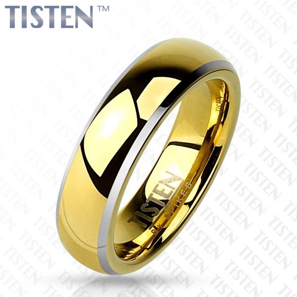 Ring Tisten gold abgeschrägte Kanten